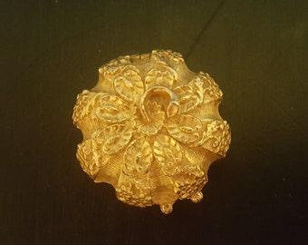 Estee Lauder gold pumpkin compact