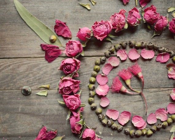 Flower Mandala Still Life Boho Wall Art Rustic
