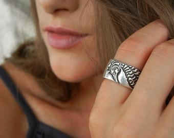 Beach Jewelry, Handmade Silver Seahorse Ring, Sterling Silver Beach Jewelry, Silver Beach Ring, Seahorse Jewelry Beach Ring, Seahorse Ring