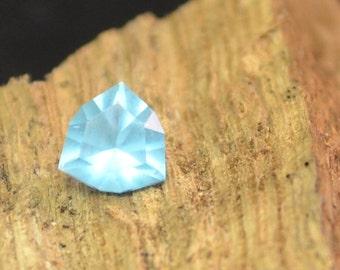 Natural Neon Blue Apatite Loose Apatite Trillion Cut Pendant Stone Ring Stone Custom Cut 6x6 Trillion