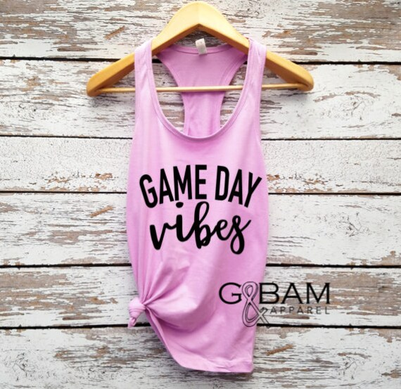 Game day Vibes Tank // Football tank top // Football season // Game day