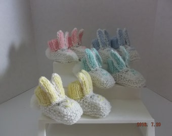 Bunny Booties ~ Baby ~ HandKnit ~ 4 Colours to choose from