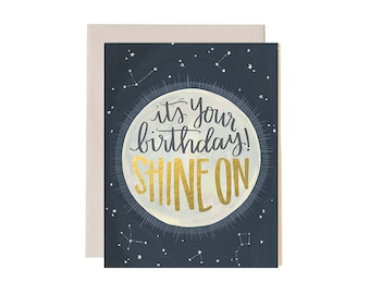 It's Your Birthday! Shine On Illustrated Card // 1canoe2