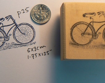 Men's Bicycle rubber stamp P25