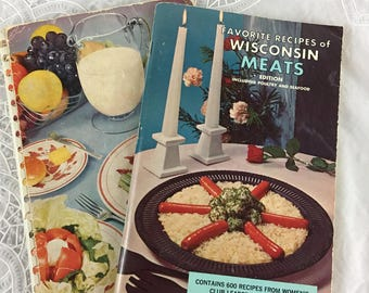 Lot of 2 Cookbooklets: Favorite Recipes of Wisconsin Meats; Favorite Recipes from America's Dairyland / cookbook / poultry / seafood