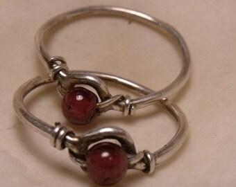 Garnet & Sterling Birthstone Ring RF103