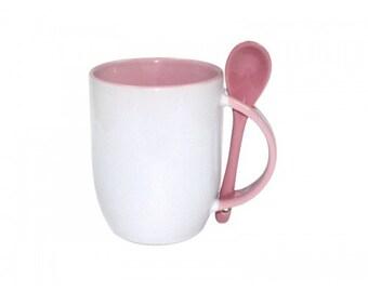 11 oz mug with spoon