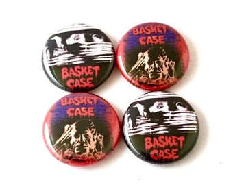 Basket Case 1 inch Pinback buttons or Magnets