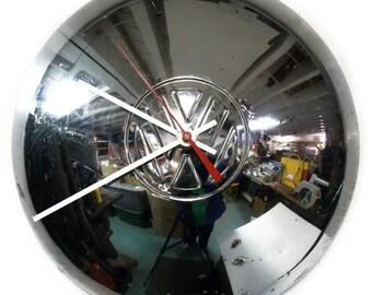 VW Bus Wall Clock - Volkswagen Ghia Hubcap Clock - Gift for Him