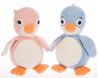 Amigurumi Patterns - Crochet Amigurumi Penguin Pattern - Cara and Milo - PDF Crochet Toy Tutorial - in English - Instant Download -Printable