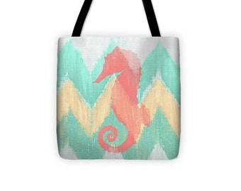 Sea Creature On Chevron II Tote Bag