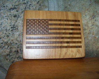 American Flag Engraved, BLFlag1
