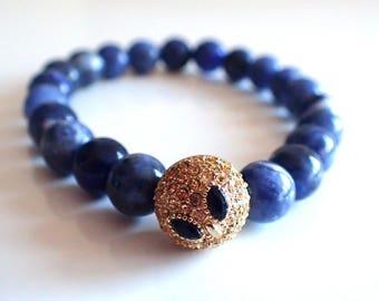 Sodalite bracelet , Gift womans , Beaded bracelet , Gift for girlfriend , Healing bracelet , Gift for her , Gift for wife , Sodalite woman