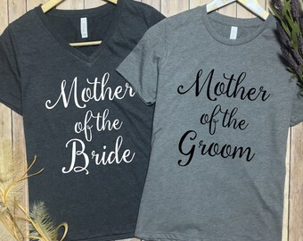 Mother Of The Bride Shirt - Mother of The Groom Shirt - Mother of the bride vneck - Mother of the groom vneck - Gift for Mother of The Bride