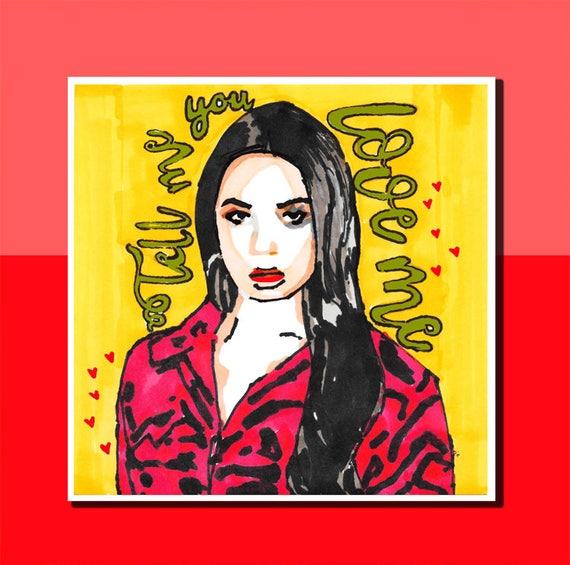 Nice Demi Lovato Wall Art Adornment - Wall Art Design ...