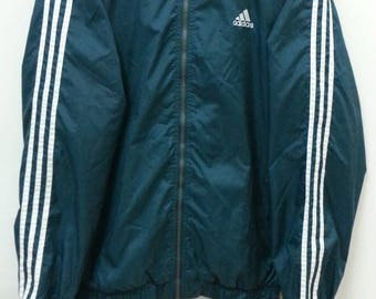 Vintage ADIDAS Equipment Team//Windbreaker Zip//Hooded//Size M//Made In Malaysia