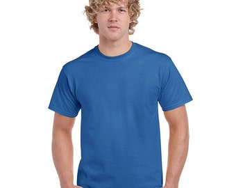 Men's Tall Short Sleeve T-shirt - XLT 2XLT 3XLT - Custom Colors for Any Design in Our Shop - Adult Tee