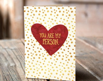 you are my person greeting card funny romantic card valentines day card humorous