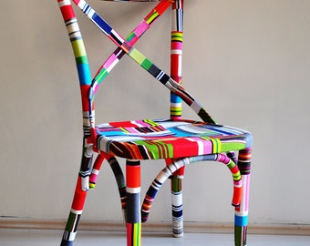 4 x colorful Thonet chairs (custom order)
