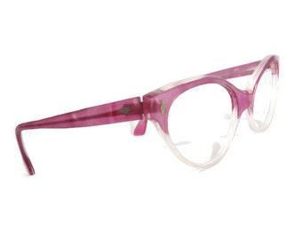 Vintage 50s HornRim Cateye Eyeglasses Eyewear Frames NOS