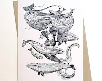 Mermaid Fiddles Card