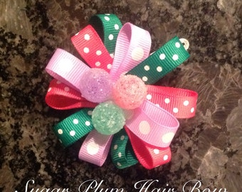 Sugar Plum hair bow