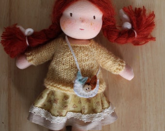 Waldorf Doll with Red hair - 11 inches / 28 cm - Lilou