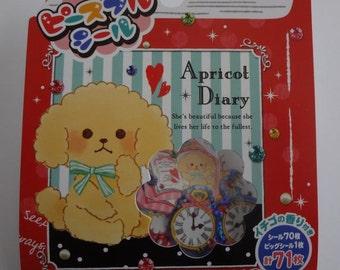 Japan Mind Wave kawaii APRICOT DIARY 71 pcs stickers flake/75738