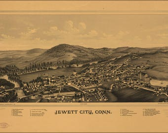 Poster, Many Sizes Available; Map Of Jewett City, Connecticut 1889