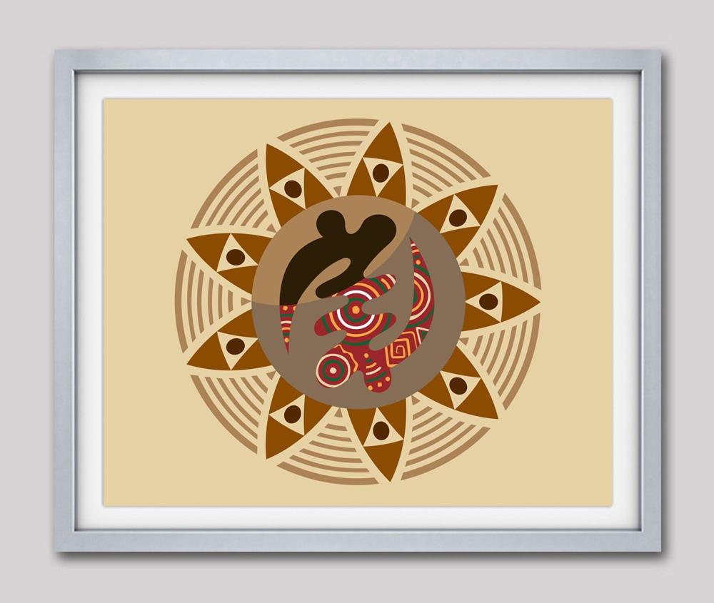 African Symbols, Adinkra symbols Gye Nyame, Modern African Pop Art ...