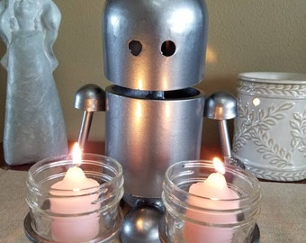 Robot candle holder