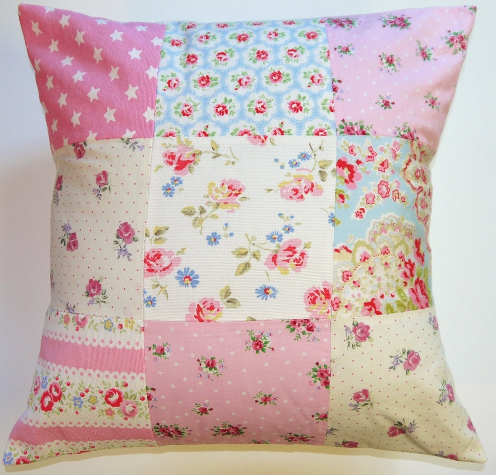 PATCHWORK CUSHION PILLOW Cath Kidston fabric Girls / adults