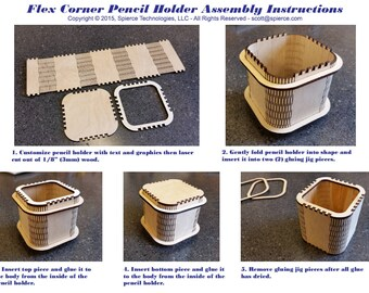 Pencil Holder Laser Cutter Pattern Download