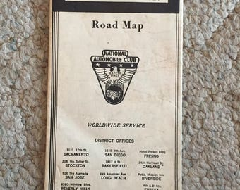 National Automobile Club Road Map