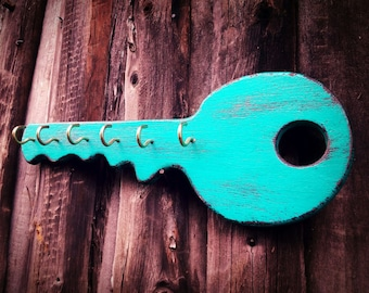 Shabby Chic Key Holder, Wall Key Holder, Key Hanger for Wall, Wood Key Holder