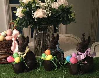 Faux chocolate easter bunny