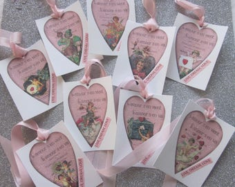 VALENTINE'S Day LIVE Dream LOVE French Inspired Gift Tags Sugar Coated 9