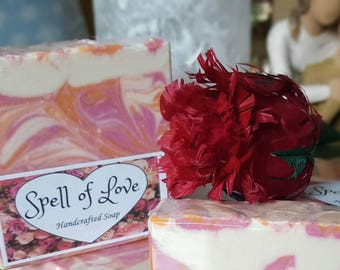 Spell of Love Handcrafted Soap Shower Favors Wedding Favors Bridesmade Gift