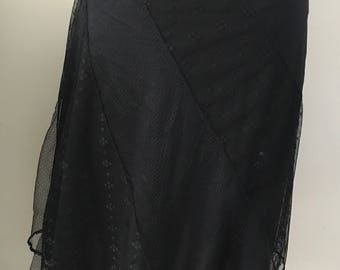 Vintage Black Lace Skirt Express Womens Size 9/10. Holiday Clothing Holiday Wear Christmas Party New Years Dressy