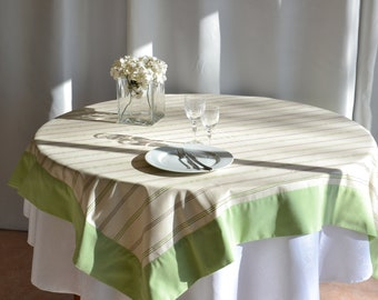 Tablecloth square cotton polyester 160 x 160