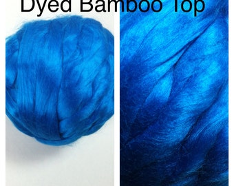 Dyed Bamboo Top Aegean / Blue Bamboo Roving Felting / Dyed Bamboo Spinning / 1lb / 16oz