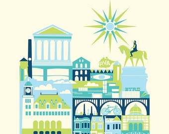 RICHMOND print -11 x 14 in. (color: Cool)