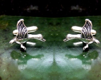 Geese Cufflinks Sterling Silver Free Domestic Shipping