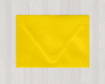 10 A7 Envelopes - Euro Flap - Yellow - DIY Invitations - Envelopes for Weddings and Other Events