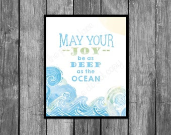 Be something you love and understand simple man lyrics may your joy be as deep as the ocean whale nursery art wave wall stopboris Choice Image