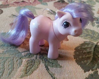 Vintage Rare My Little Pony Baby Pony Ember 1980s Hasbro Lilac with Light Purple Hair White Star Cutie Mark 1984