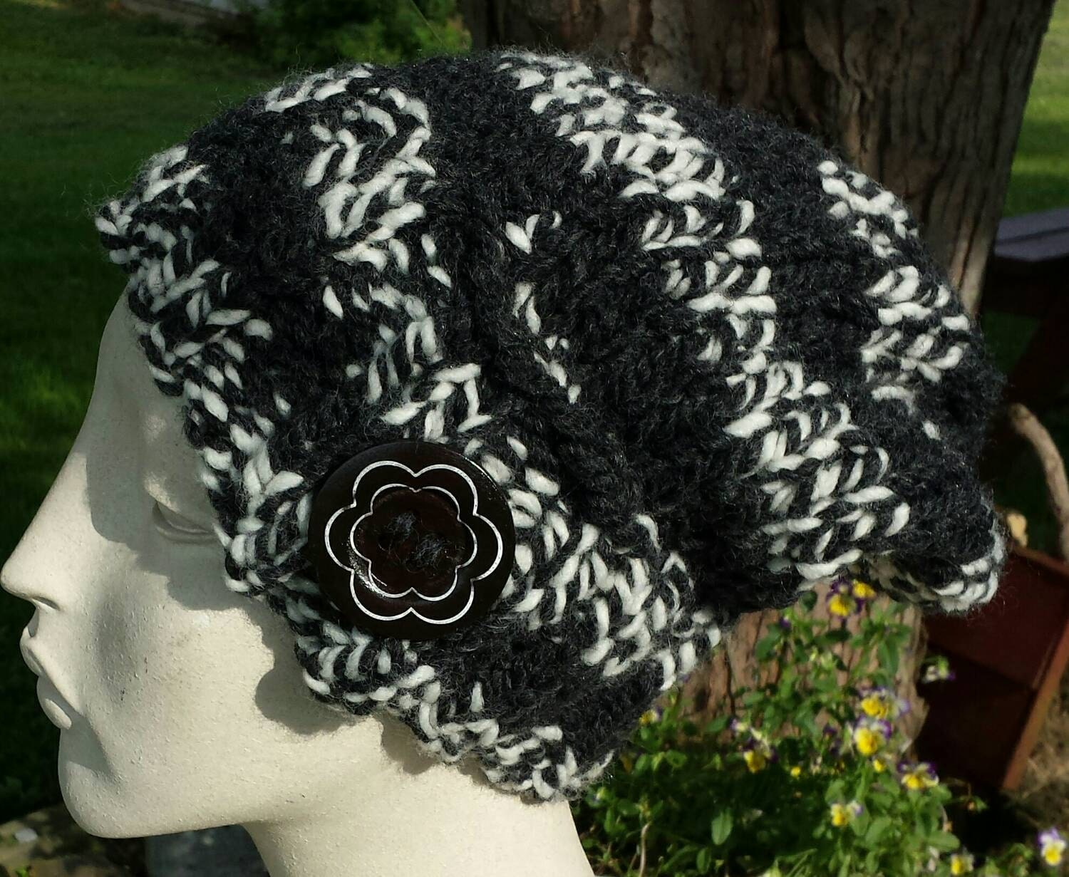 Pdf slouchy hat knitting pattern easy instructions make on zoom bankloansurffo Images