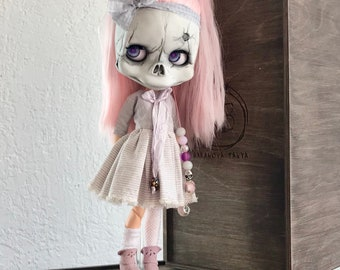 Blythe Doll Custom OOAK Skeleton Girl