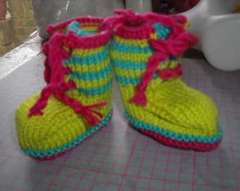 Trainer style baby booties 6-12 months