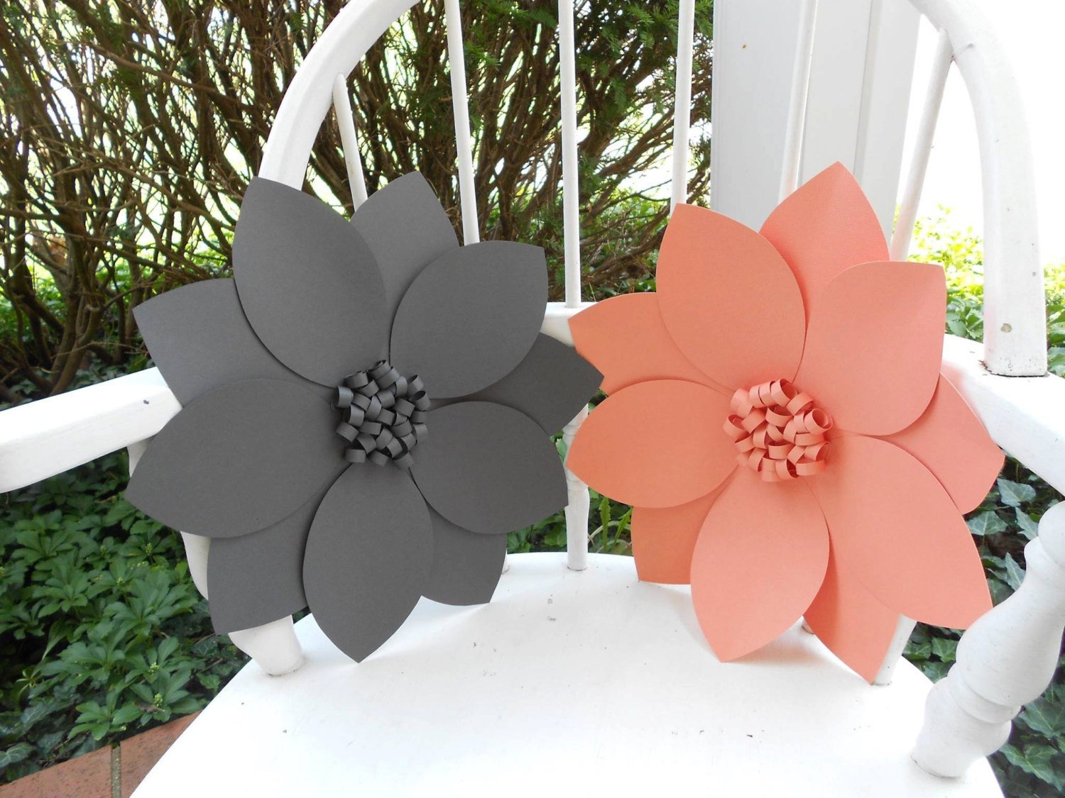 Giant paper flower wedding decor photo backdrop zoom mightylinksfo